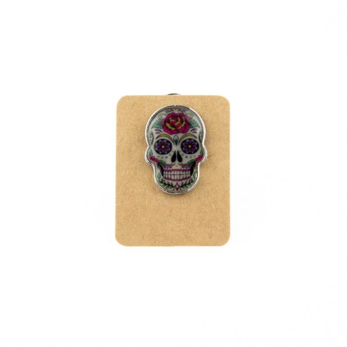 Metal Colorful Skull Enamel Pin Badge