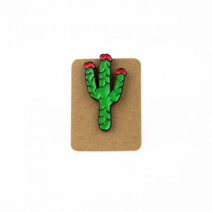 Metal Cactus Enamel Pin Badge