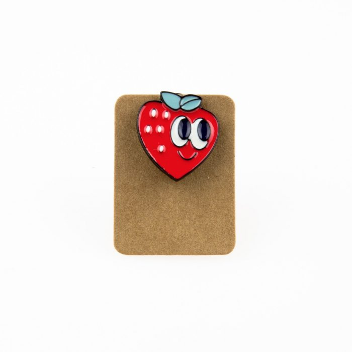 Metal Strawberry Enamel Pin Badge