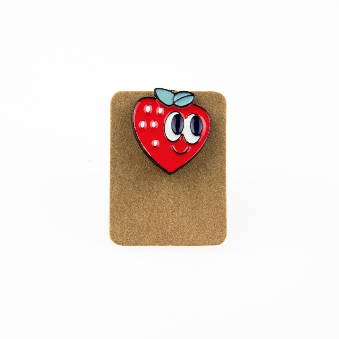 Metal Strawberry Enamel Pin Badge