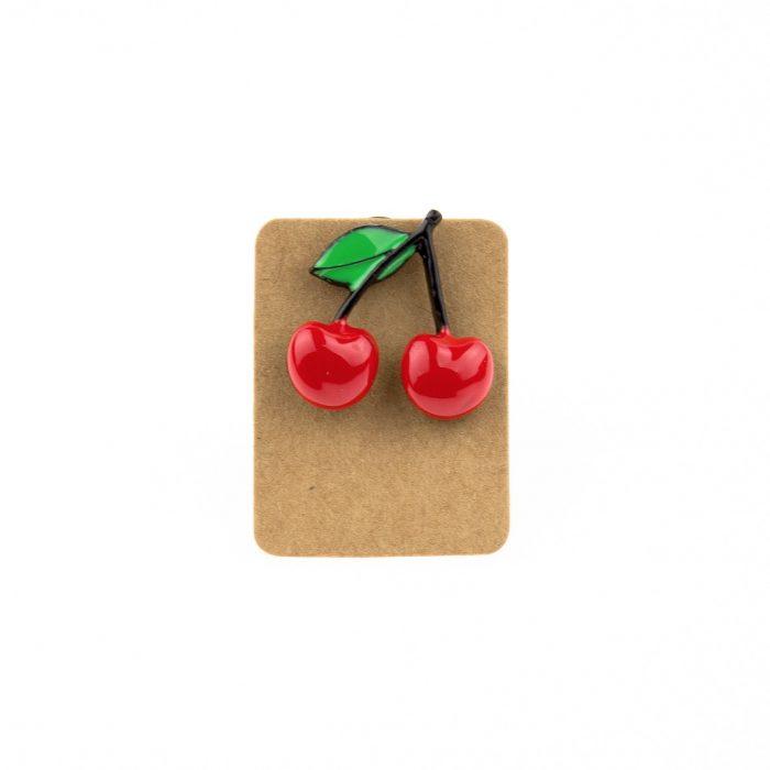 Metal Cherry Enamel Pin Badge