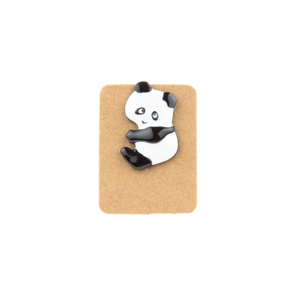 Metal Panda Enamel Pin Badge