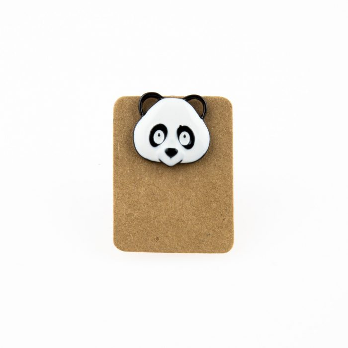 Metal Panda Head Dog Enamel Pin Badge