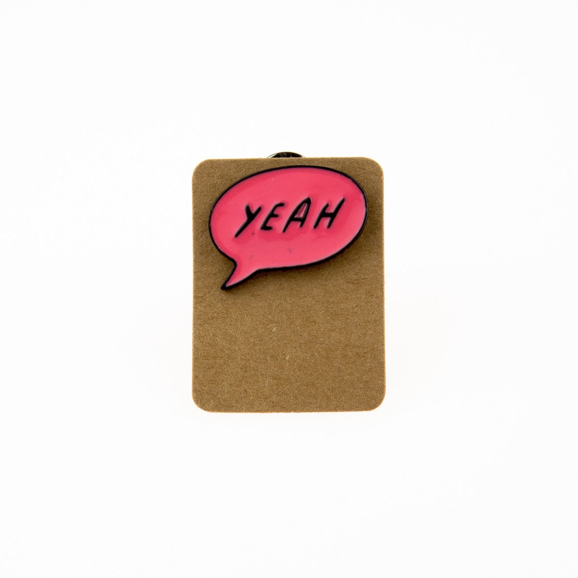 Metal Speech Bubble Yeah Enamel Pin Badge