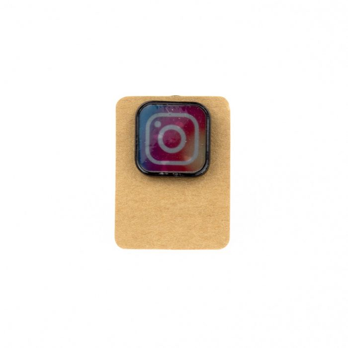 Metal Instagram Logo Enamel Pin Badge