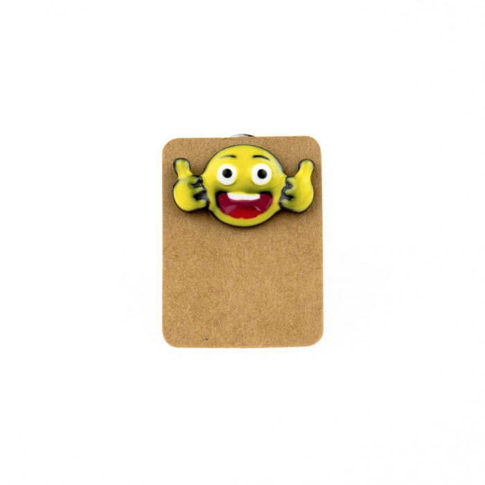 Metal Emoji OK Enamel Pin Badge