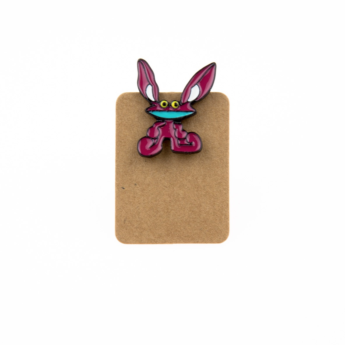 Metal Purple Alien Big Ear Enamel Pin Badge