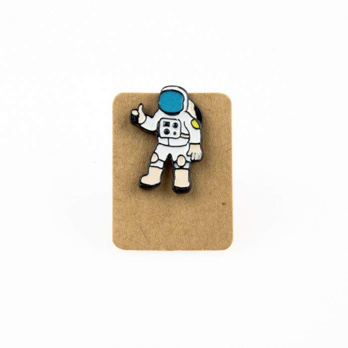Metal Astronaut Enamel Pin Badge