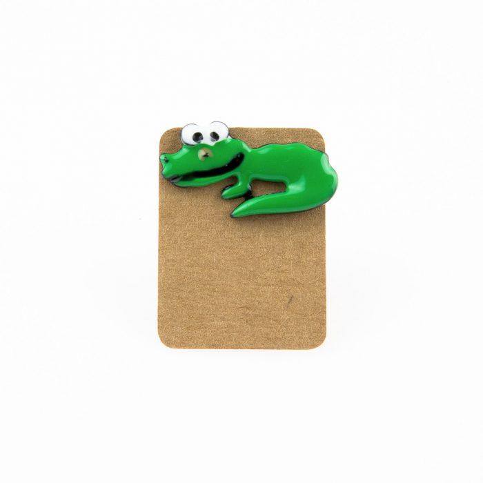 Metal Crocodile Enamel Pin Badge