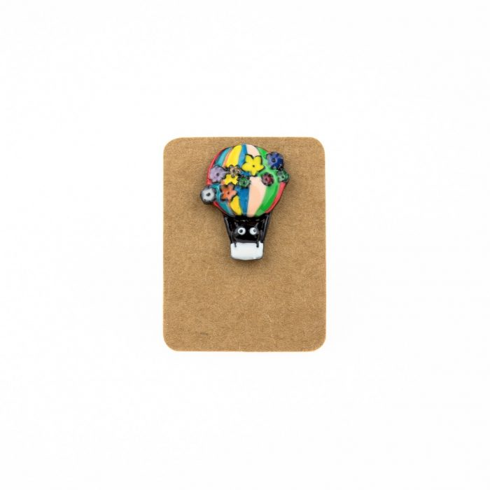 Metal Hot Air Balloon Enamel Pin Badge