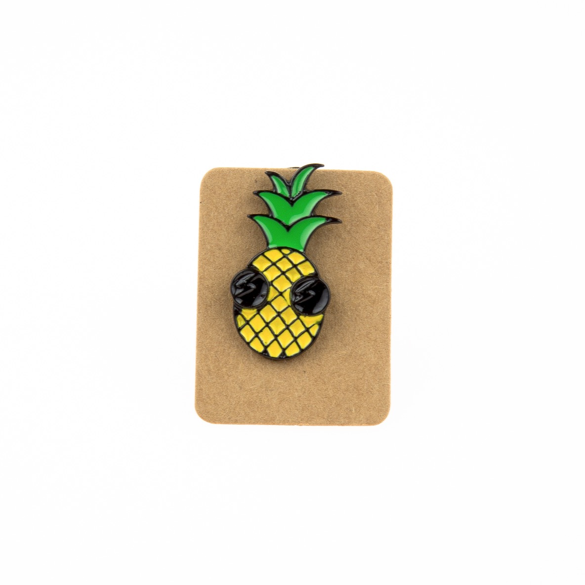 Metal Pineapple Sunglass Enamel Pin Badge