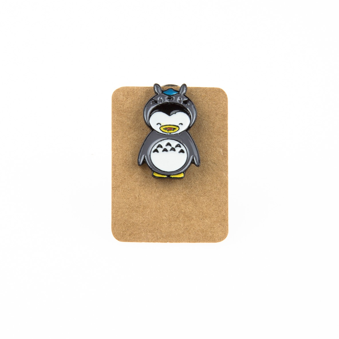 Metal Penguin Totoro Enamel Pin Badge