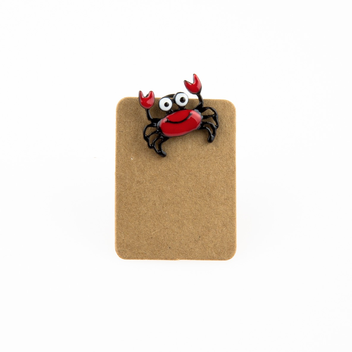 Metal Red Crab Enamel Pin Badge