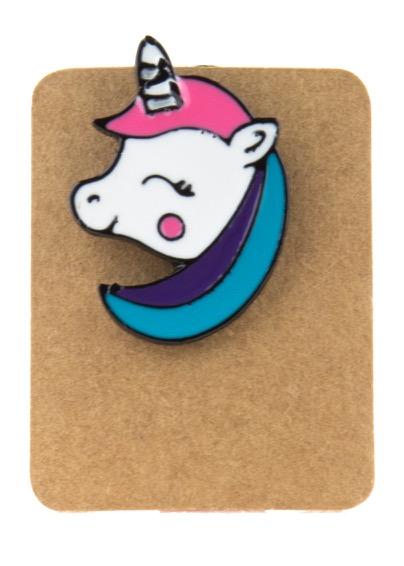 Metal Pony Unicorn Enamel Pin Badge