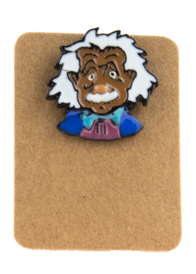 Metal Albert Einstein Enamel Pin Badge