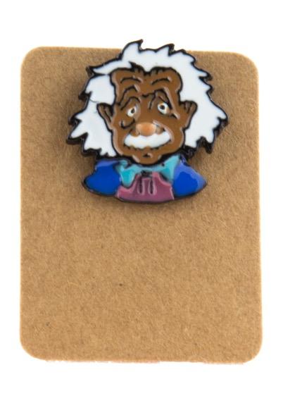 Metal Albert Einstein Enamel Pin Badge