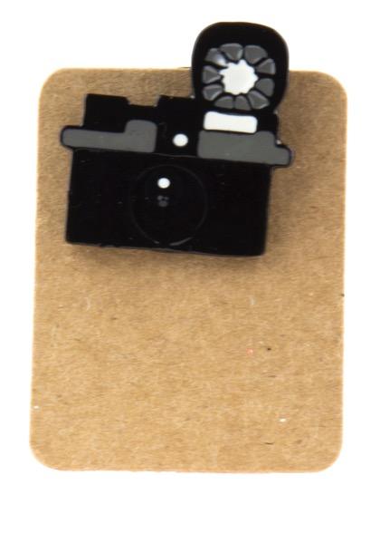 Metal Old Retro Camera Enamel Pin Badge