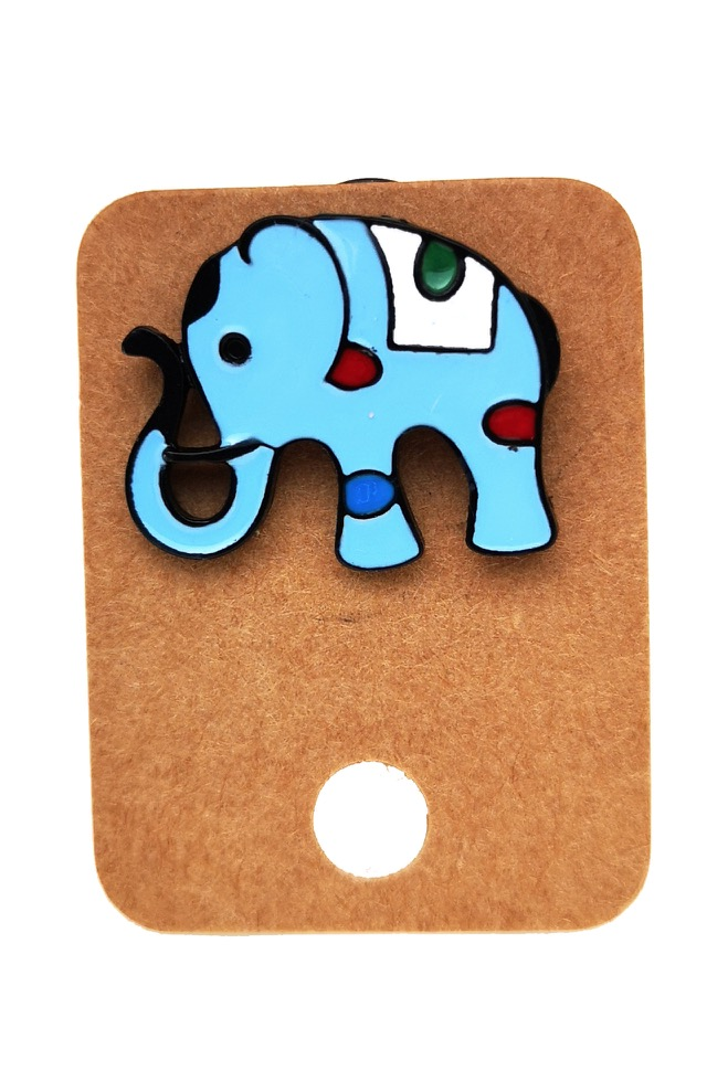 Metal Elephant Enamel Pin Badge