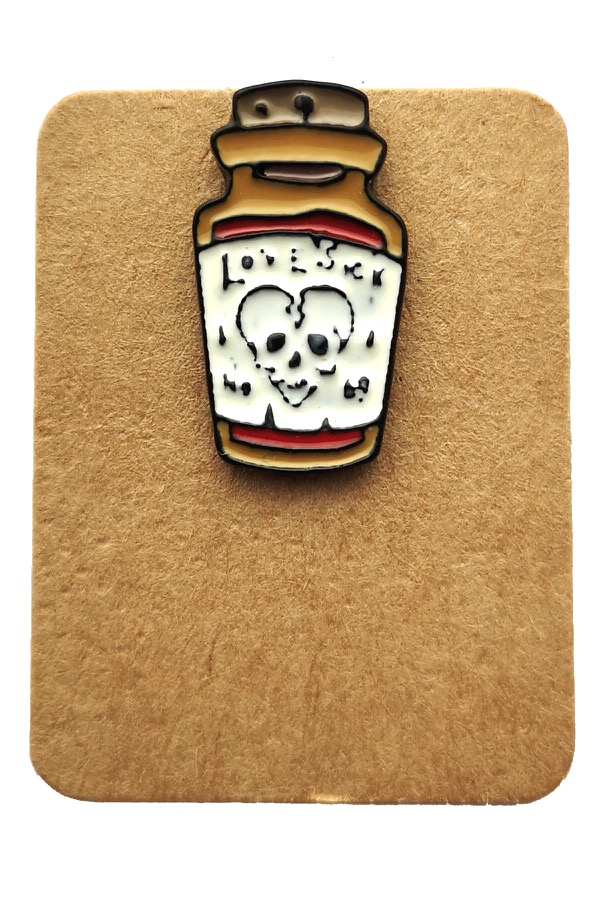 Metal Love Potion Enamel Pin Badge