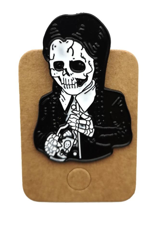 Metal Skeleton Suit Enamel Pin Badge