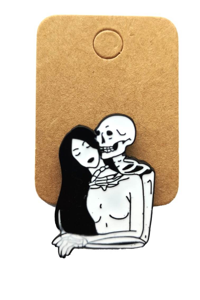 Metal Skeleton Beyond Girl Enamel Pin Badge