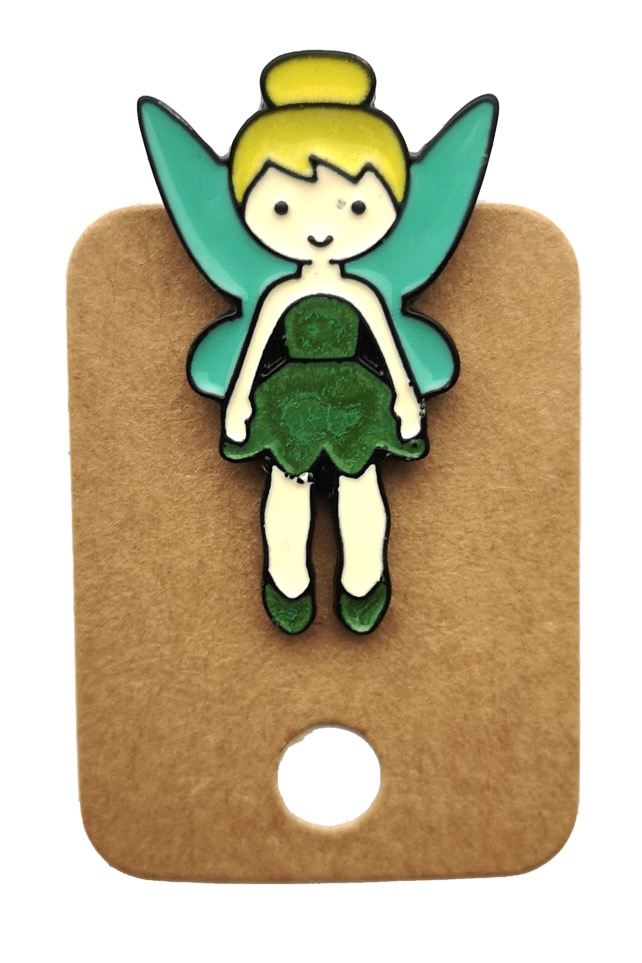Metal Peter Pan Tinker Bell Enamel Pin Badge