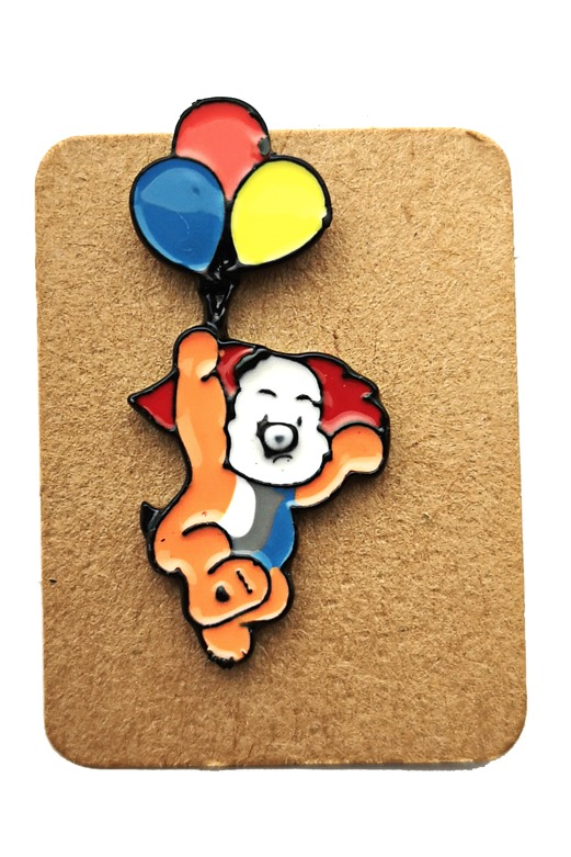 Metal Koala Clown Balloons Enamel Pin Badge