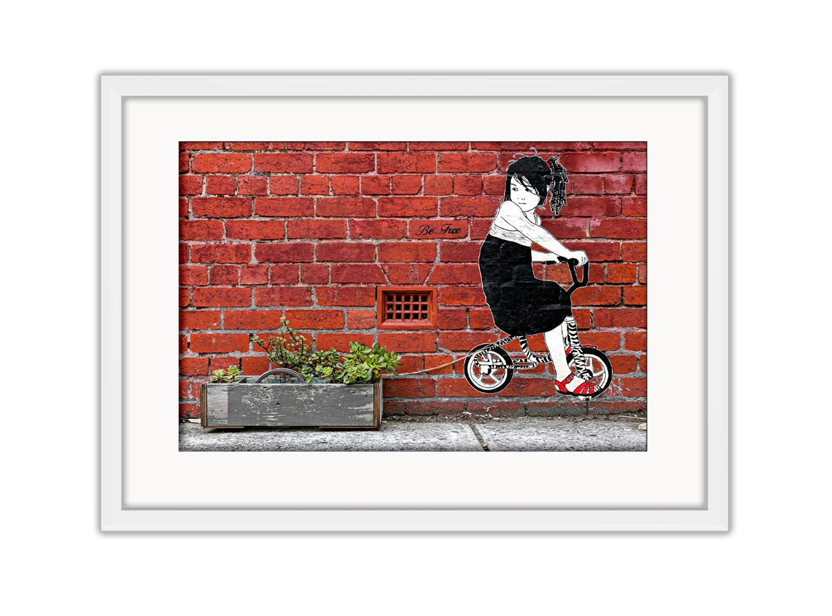 Be Free Bike  Photo Print