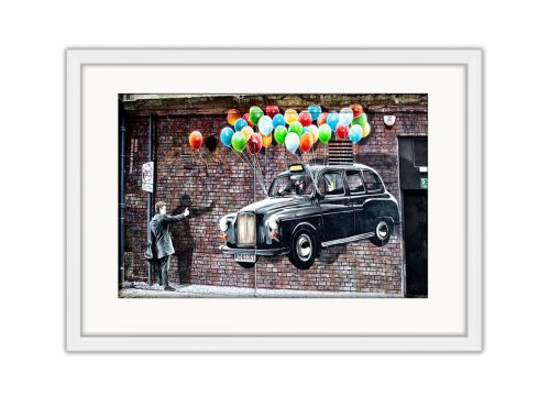 Black Cab UP Photo Print