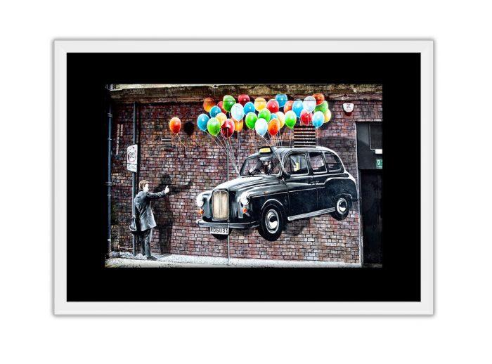 Black Cab UP Photo Print