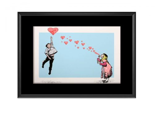 Boy and Girl Bubble Photo Print
