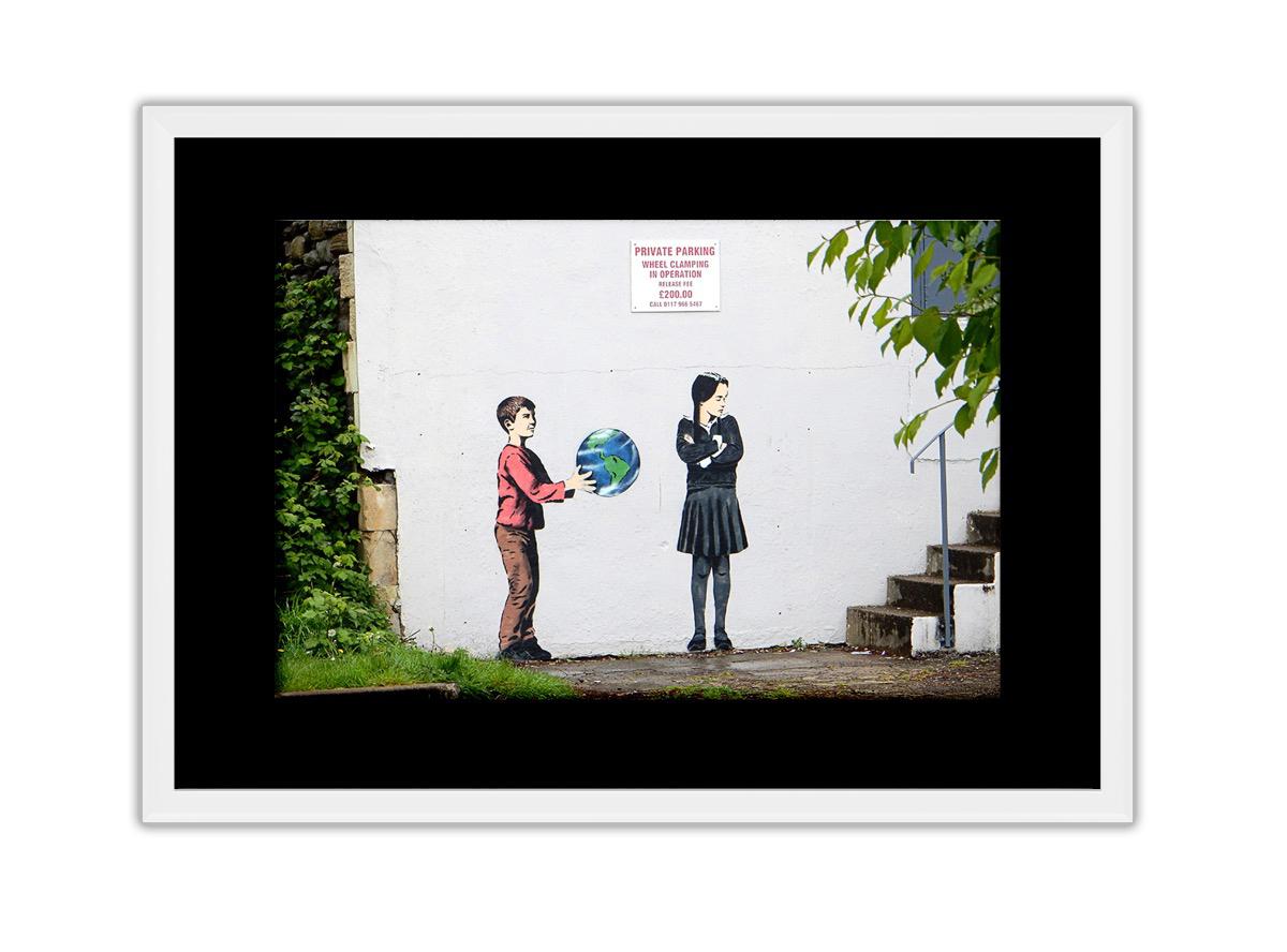 Boy Giving Earth  Photo Print