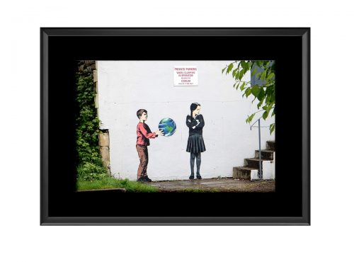Boy Giving Earth  Photo Print