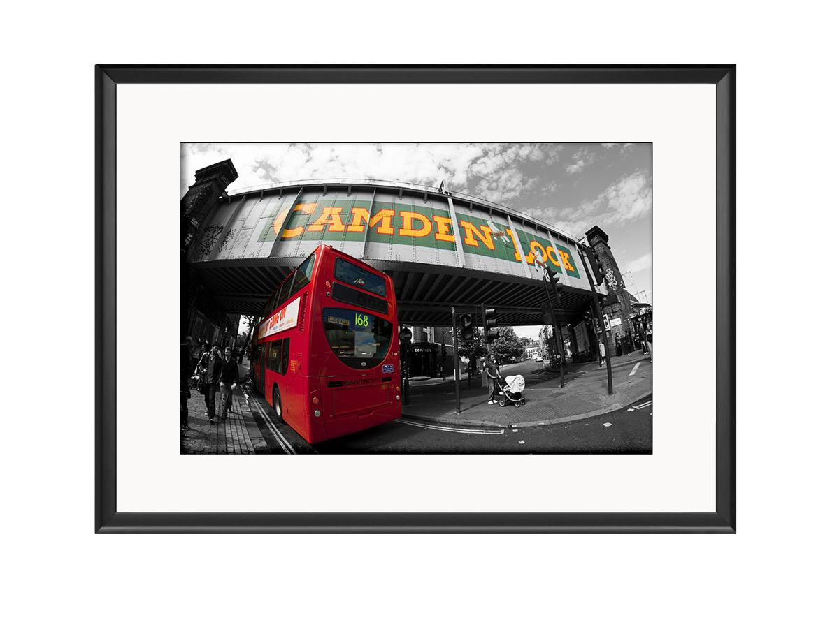 Camden Red Bus  Photo Print