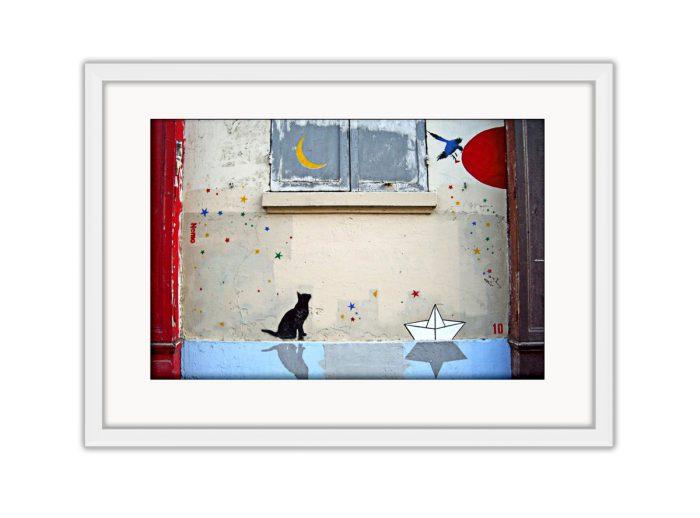 Cat Moon  Photo Print