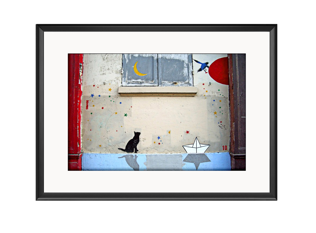 Cat Moon  Photo Print