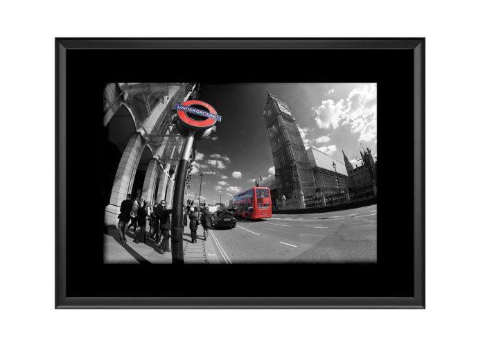 Big Ben Tube Bus  Photo Print