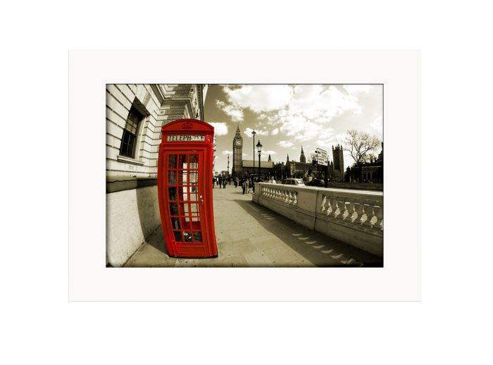 Phone Booth Big Ben Photo Print