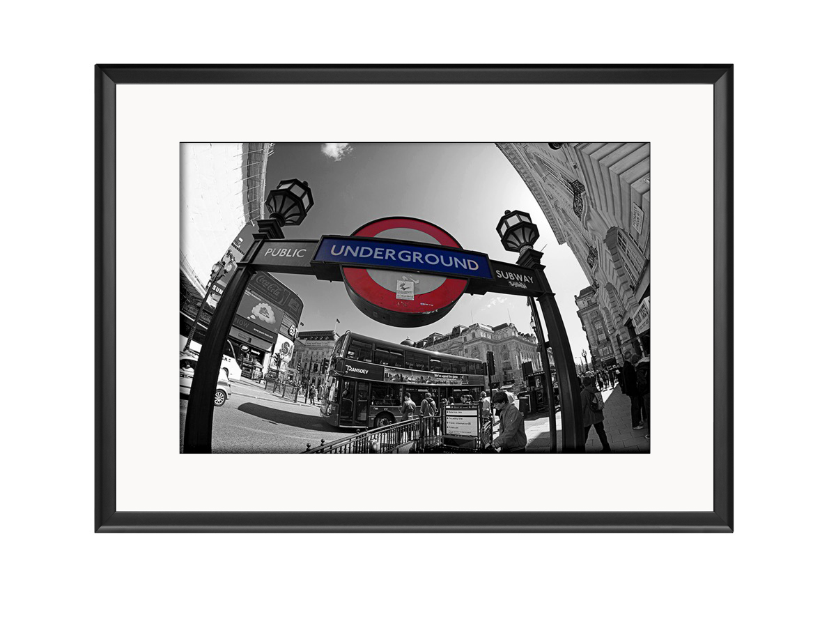 Piccadliy Circus Tube Sign Photo Print
