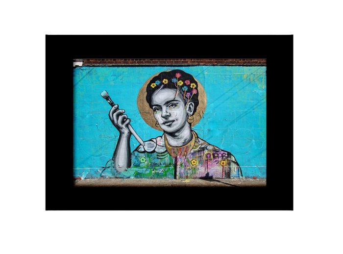 Frida Holding Brush Photo Print