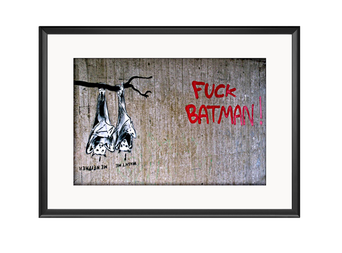 Fuck Batman Photo Print