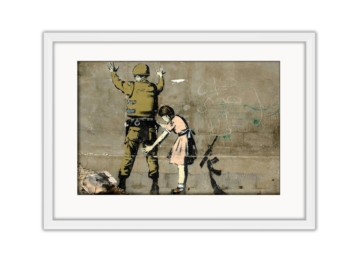 Girl Search Soldier  Photo Print