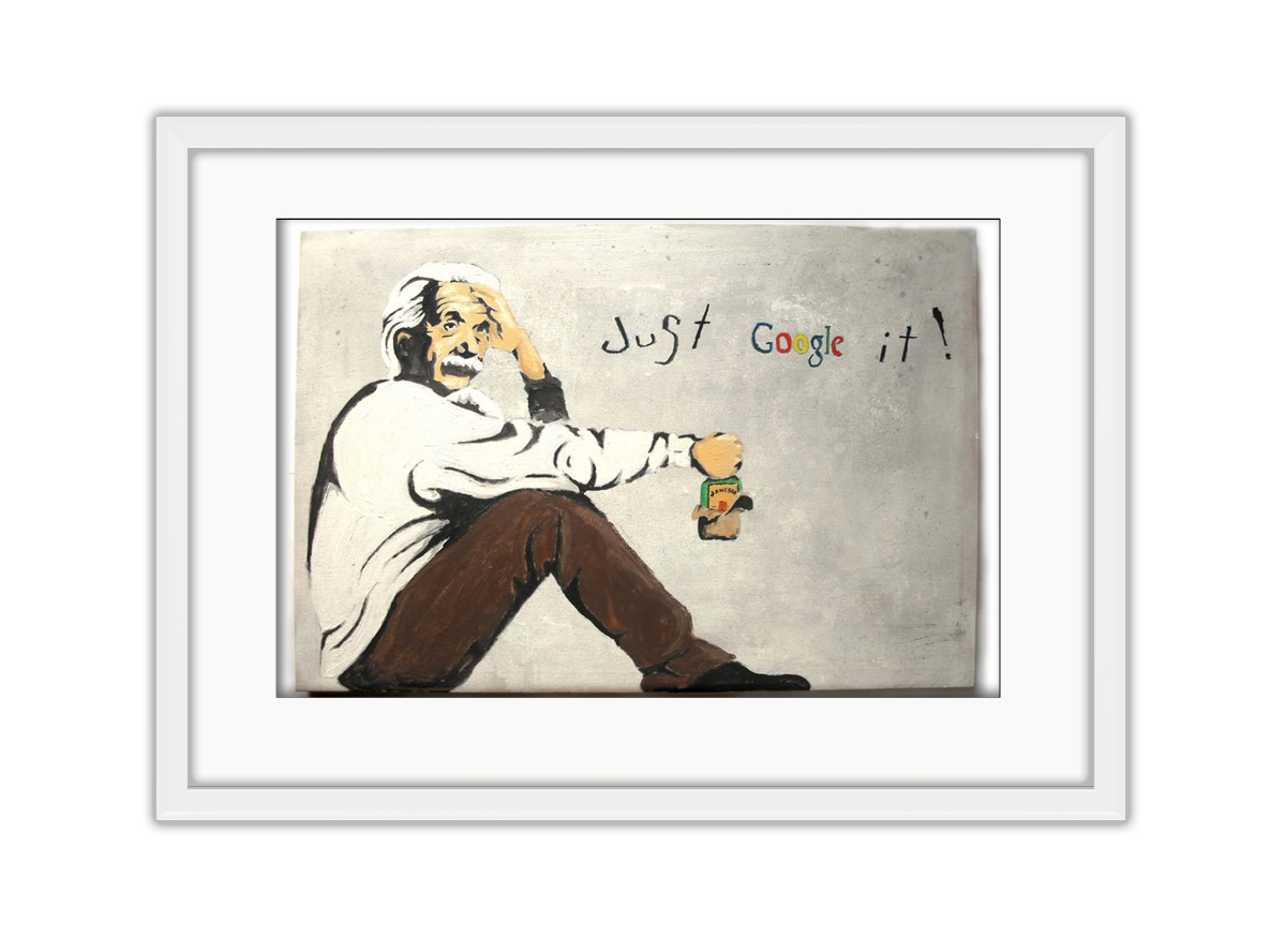 Albert Einsteen Google It  Photo Print