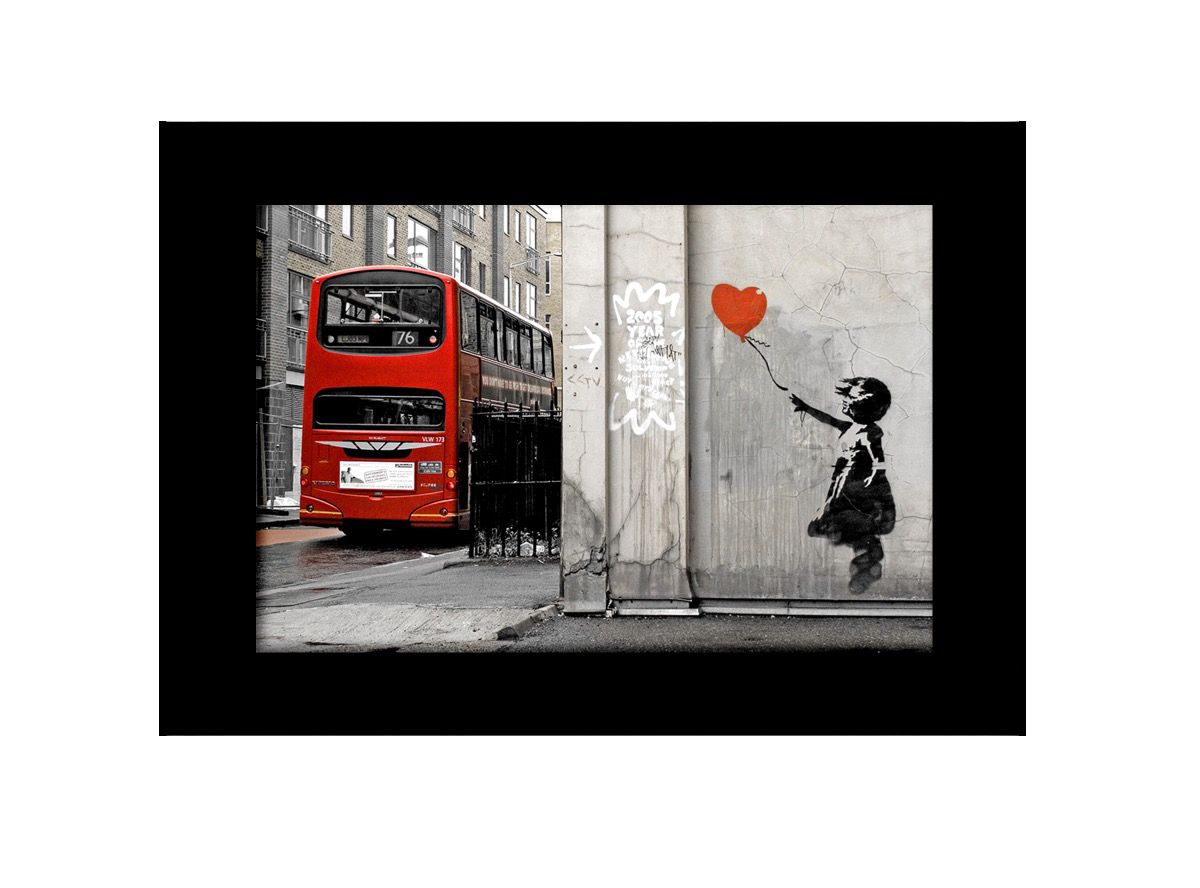 Balloon Girl With Bus  Photo Print