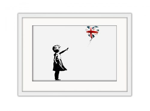 Balloon Girl EU Flag Photo Print