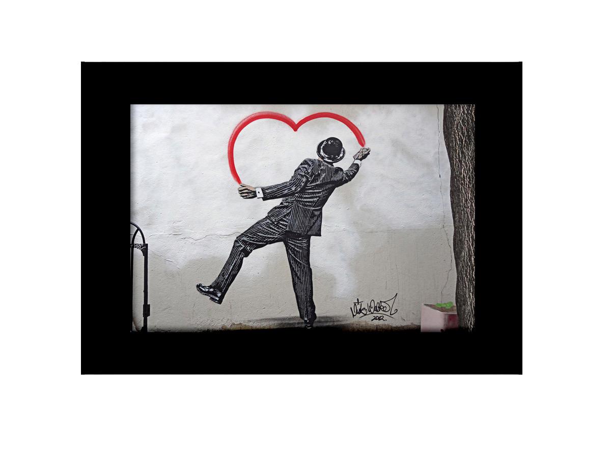 Man Drawing Heart Photo Print