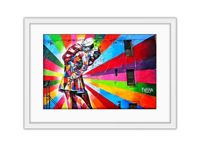 Man Kissing Woman Photo Print
