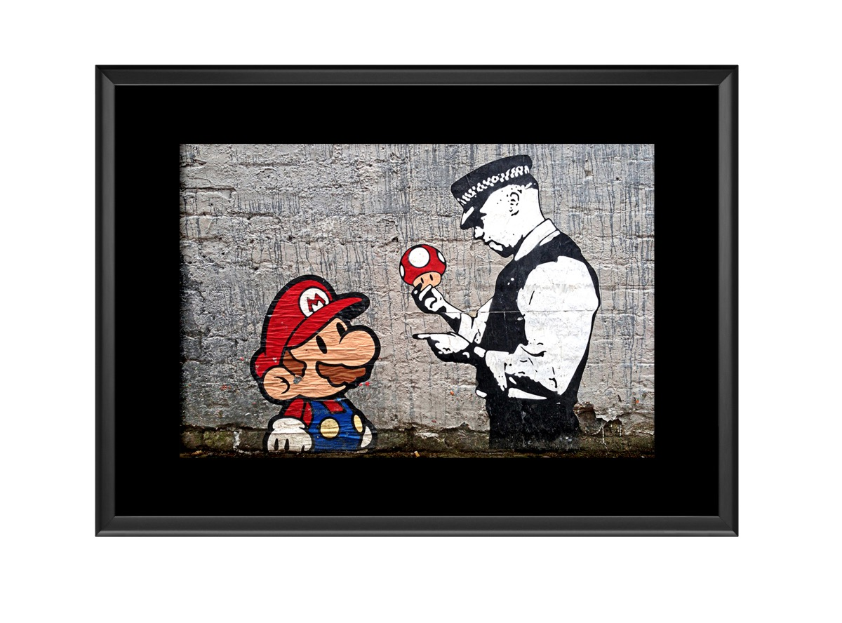 Police Mario  Stop Search  Photo Print