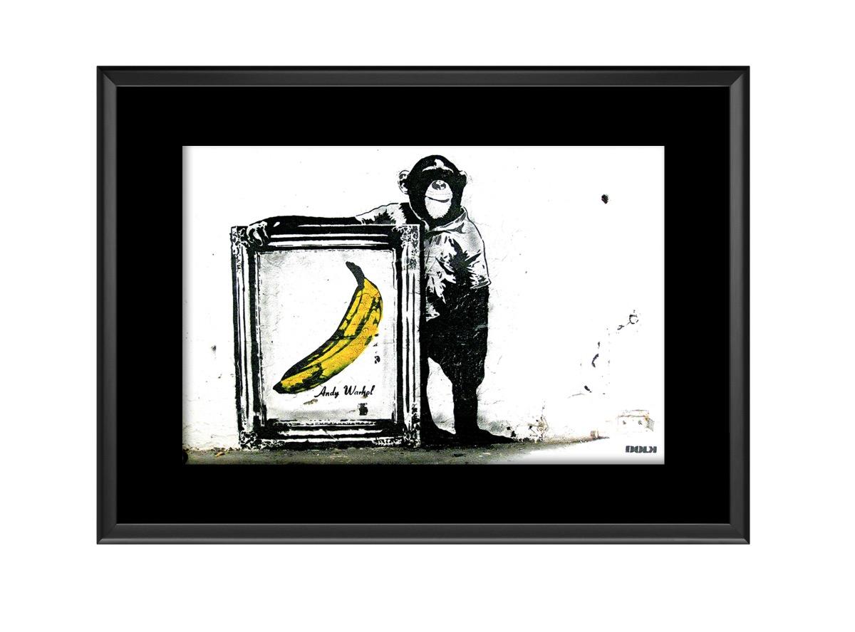 Monkey Andy Warhol Banana Photo Print