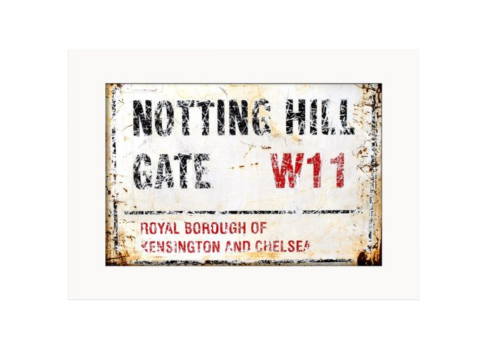 Notting Hill Gate Road Sign Photo Print